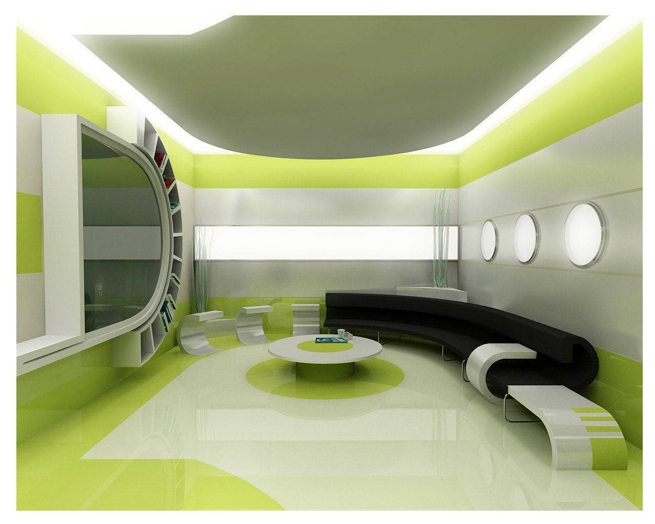 Green Interior Designs Modern Classical Home