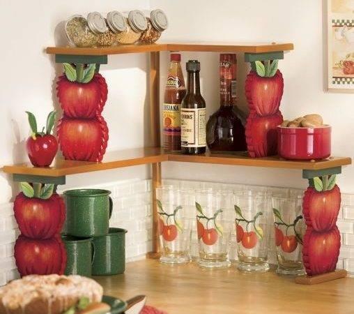 Green Kitchen Decor Apple Wall Theme