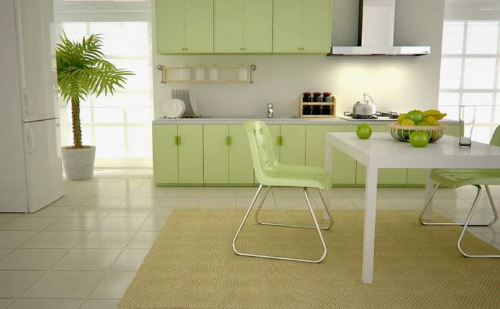 Green Kitchen Perfect Choice Wall Cabinets Color