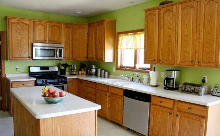 Green Kitchen Wall Color Painted Cabinets