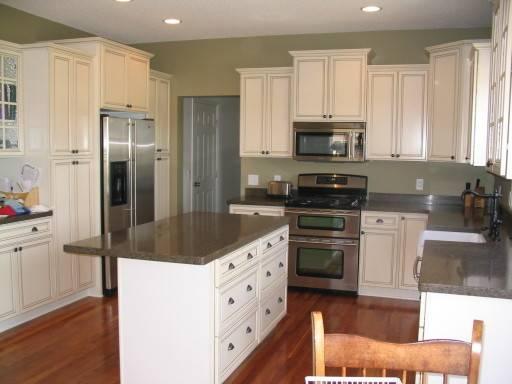 Green Kitchen Walls White Cabinets