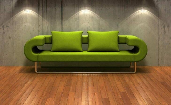 Green Sofas Friendly Touch Futuristic Design Chrome Leg
