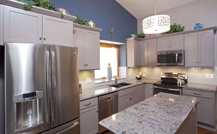Greige Cabinets Kitchen Remodel