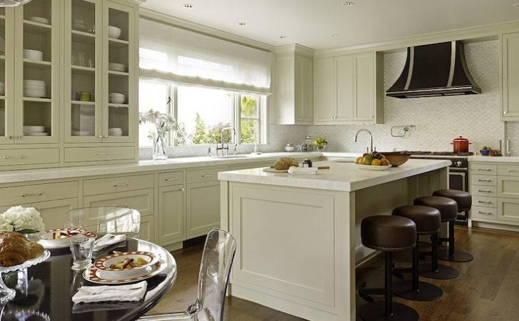 Greige Kitchen Cabinets Transitional Benjamin Moore Grant