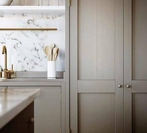 Greige Kitchen Marble