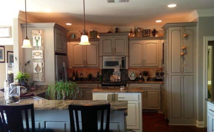 Greige Kitchen Warm Gray Moose Head Lake Pinterest