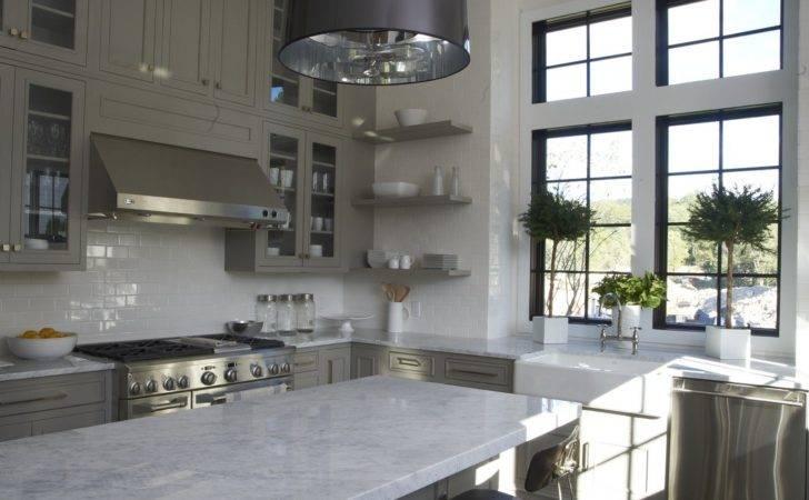 Greige White Kitchen