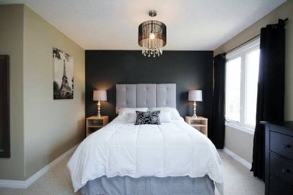 Grey Accent Wall Master Bedroom Home