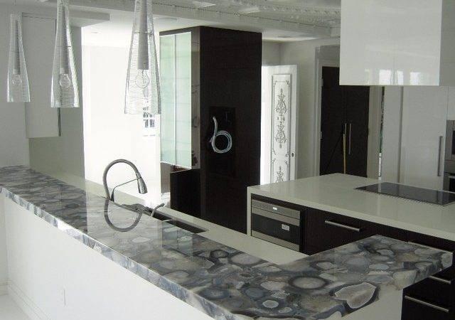 Grey Agate Countertop Semi Precious Modern Kitchen Countertops