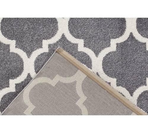 Grey Lorenza Modern Moroccan Tiles Rug Temple Webster