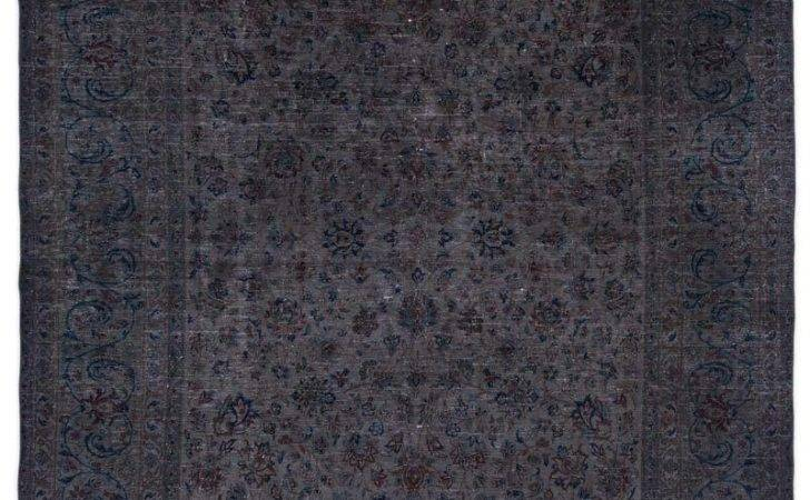 Grey Over Dyed Persian Vintage Rug Kilim Rugs Overdyed