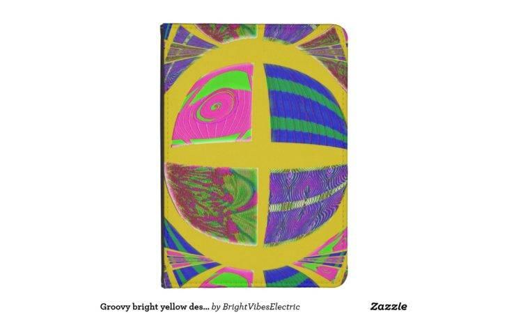 Groovy Bright Yellow Design Kindle Case Zazzle