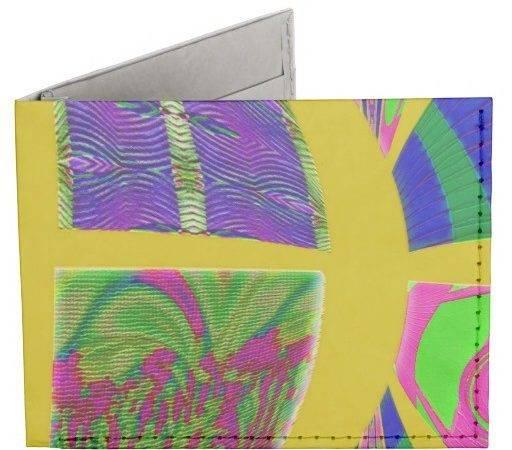 Groovy Bright Yellow Design Tyvek Billfold Wallet Zazzle