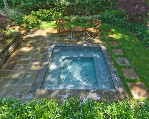 Ground Hot Tub Home Design Ideas Remodel Decor