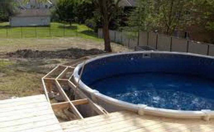 Ground Pool Deck Above