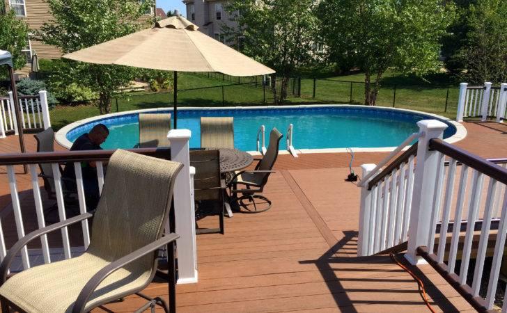 Ground Pool Decks Patio
