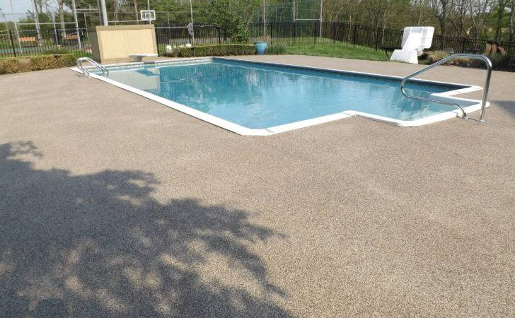 Ground Pools Concrete Pool Deck Ideas Columbus Ohio