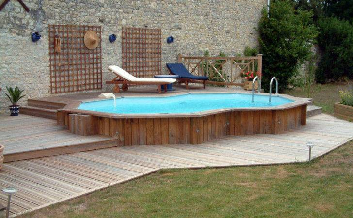 Ground Pools Decks Outdoor Party Small Above Pool