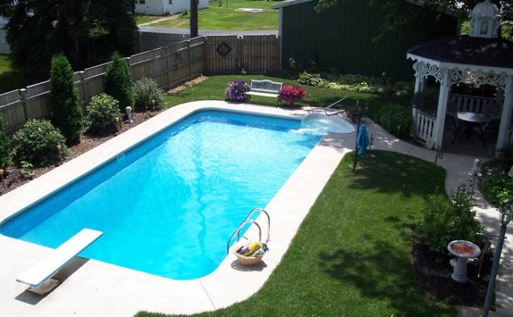 Ground Swimming Pool Sizes Rectangle Inground Kits