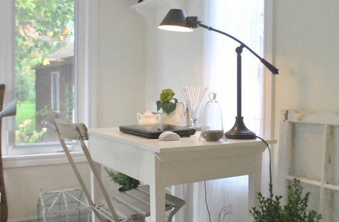 Grower Daughter Sunroom Makeover Office Space