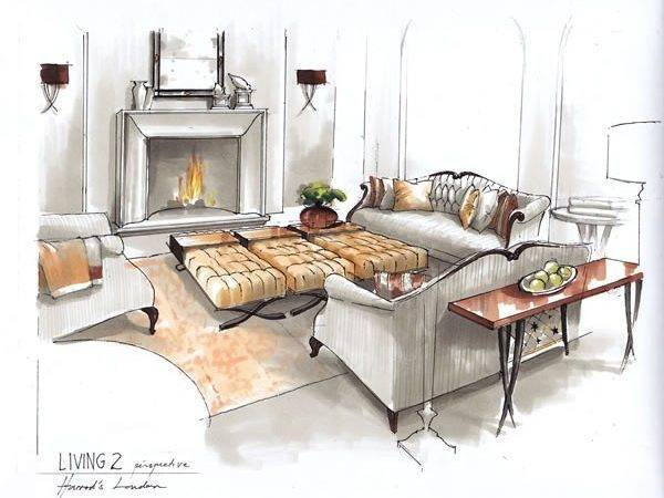 Guy Interior Rendering Sketching Pinterest Christopher