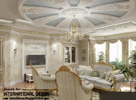 Gypsum Board Ceiling Classic Interior Design Italian