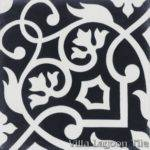 Gypsy Black White Cement Tile Villa Lagoon Exlcusive