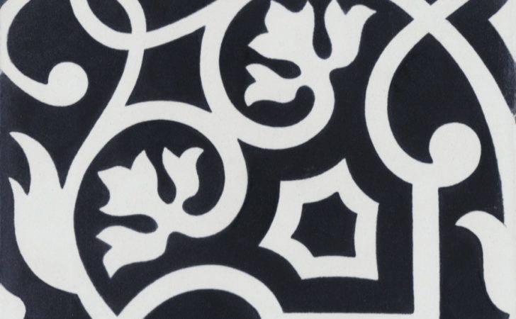 Gypsy Black White Cement Tile Villa Lagoon Exlcusive
