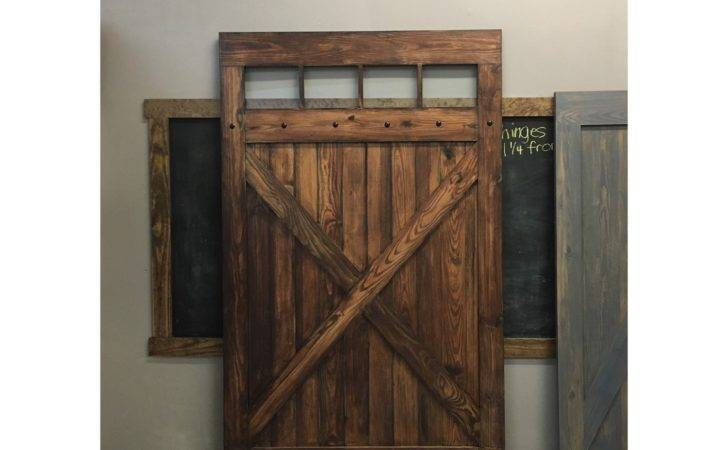Hacienda Design Sliding Barn Door Glass Windows Rustic