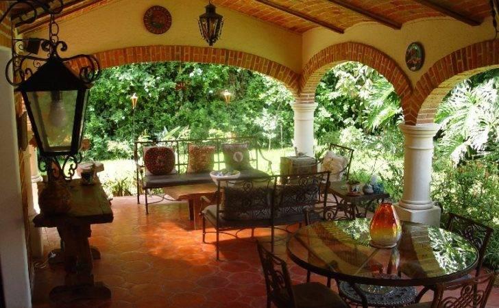 Hacienda Style Terrace Great Place Enjoy
