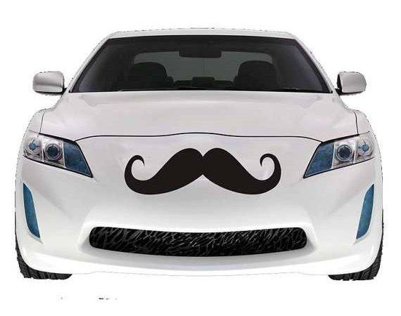 Hairy Automobile Accessories Mustache Car Decal Urban