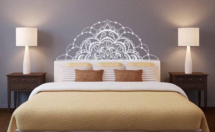 Half Mandala Wall Decal Headboard