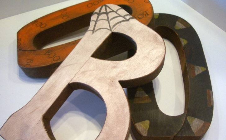 Halloween Boo Custom Wood Letters