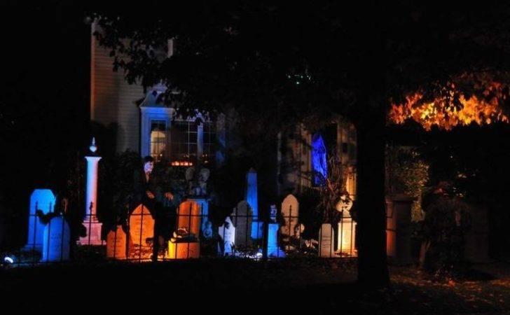 Halloween Cemetery Lighting Pinterest Blue