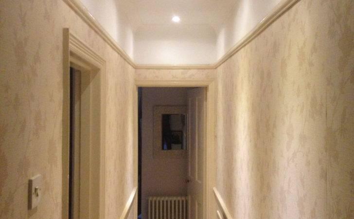 Hallway Lighting Added Neutral Modern Small Space