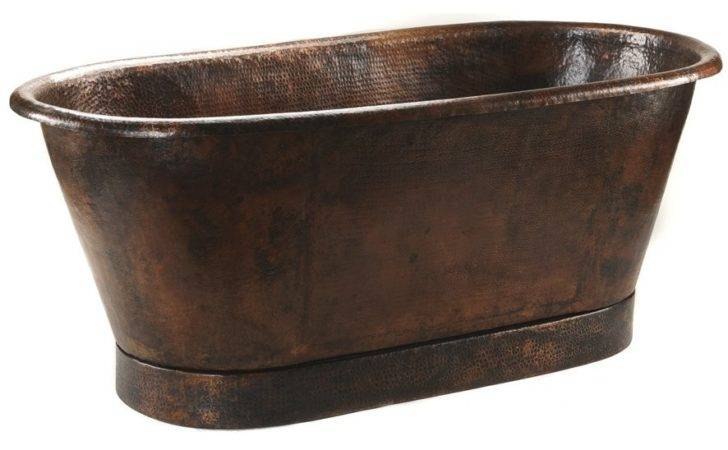 Hammered Copper Double Ended Bathtub Classic Clawfoot Tub