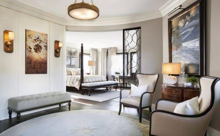 Hamptons Inspired Luxury Home Master Bedroom Robeson Design