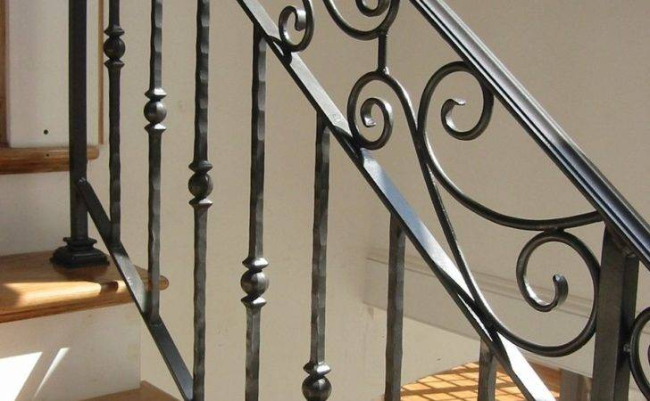 Hand Crafted Custom Interior Wrought Iron Railing Amaral Industries