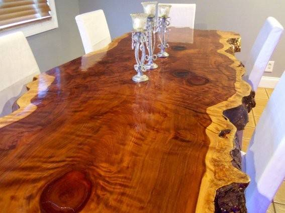 Hand Crafted Live Edge Redwood Kitchen Table Ozma Design