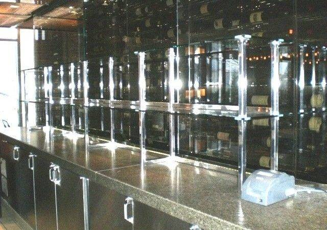 Hand Made Bar Shelves Glass Stainless Steel Metal Llc