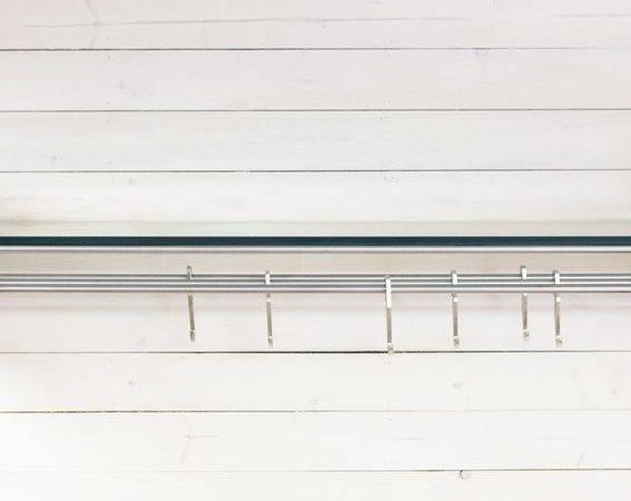 Hand Made Hub Floating Shelf Brushed Stainless Steel Eidolon