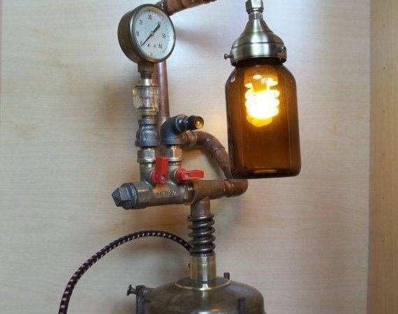 Hand Made Industrial Steampunk Repurposed Upcycled Vintage Optimus