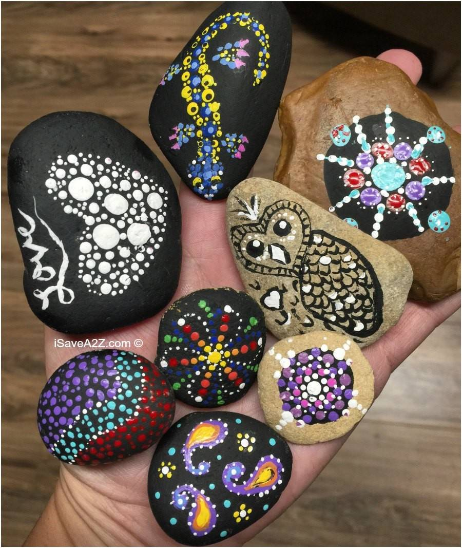 Hand Painted Rock Designs Teaching Opportunity Kids