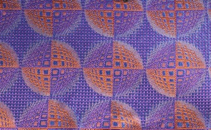 Handkerchief Blue Navy Orange Terracotta Patterned Design