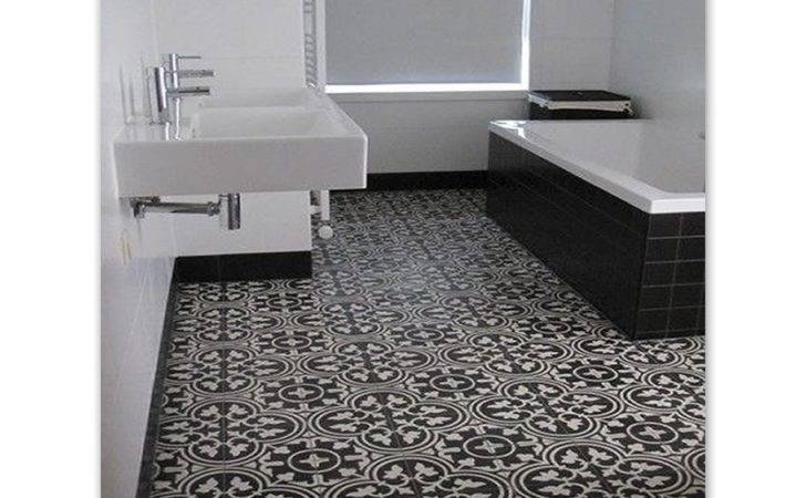 Handmade Cement Tile Black White Moroccan Mosaic House