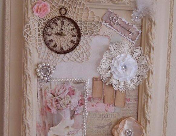 Handmade Shabby Chic Frame Collage Cottage Mixed Media Wall Art