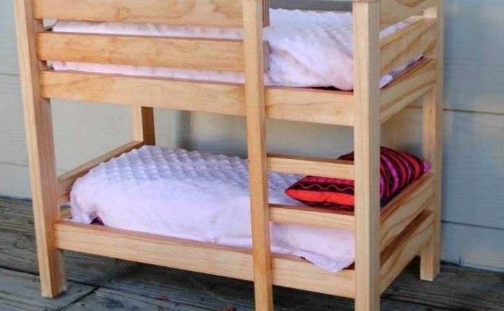 Handmade Stained Wooden Inch Doll Bunk Bed Bloomin Love Designs