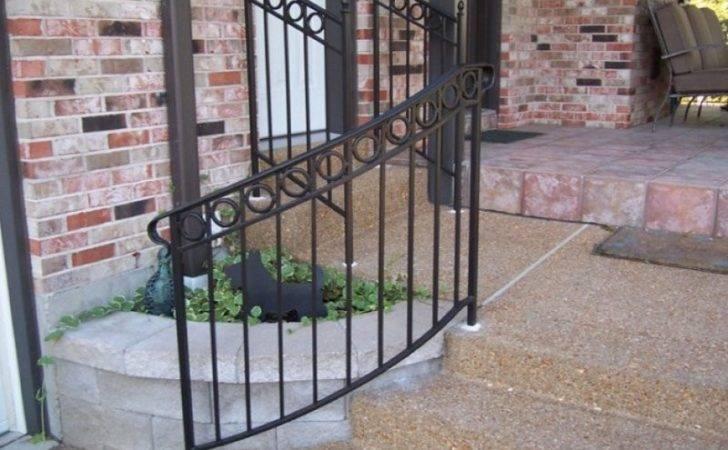 Handrail Installation Iron Metal Stairway Railing