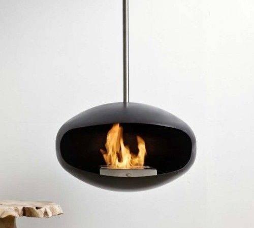 Hanging Bio Fuel Fireplace Black Fireplaces Gel