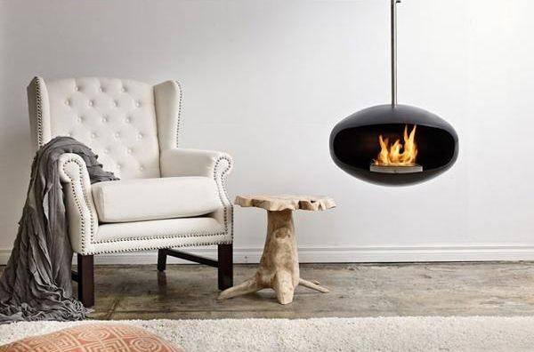 Hanging Fireplaces Adding Chic Contemporary Interior Design